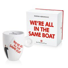 Enjoy the beautiful taste of illy coffee with this mug by Marina Abramovic celebrating the anniversary of the Barcolana regatta in Trieste, Italy. Cappuccino Cups, Espresso Cups, Coffee Cups, America Sign, Marina Abramovic, Office Team, Flag Signs, Robots For Kids, Gold Candles
