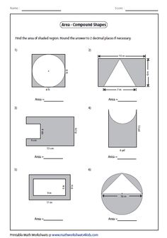 Area Of Composite Figures Worksheet - Delibertad | Projects to Try ...