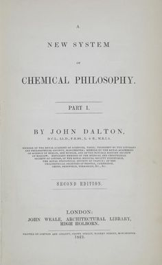 A New System of Chemical Philosophy, 2nd. edition (1842) by John Dalton