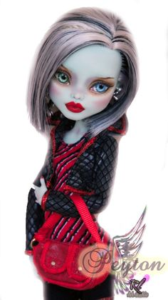 OOAK Monster High Custom Repaint Frankie Stein by Rogue Lively. $100.00, via Etsy.