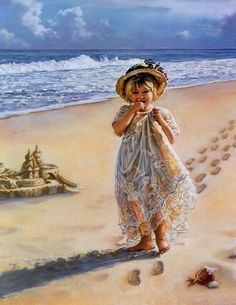 I enjoy paintings of children especially on the beach