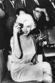 Marilyn at a press conference at the Hilton Hotel in Mexico City, February 22nd…