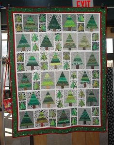 Forest Quilt. Maybe use backgrounds of different shades of browns, blues, soft yellows...