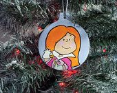 Little Red Haired Head Girl Charlie Brown Christmas Ornament Peanuts Snoopy