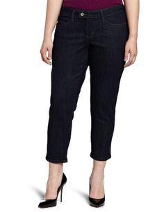Fashion Bug Womens Plus-Size Classic Bold Curve Slim Crop Jean