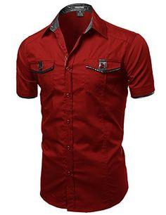 Youstar Men's Short Sleeve Button Down Shirts, http://www.amazon.com/dp/B019P8ZOZI/ref=cm_sw_r_pi_awdm_p8o4wb1YWWTZP