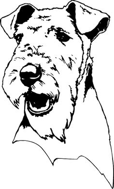 pets0151 - Airedale Head dog decal.  Personalize on line.