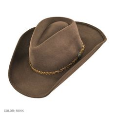 0c25e21b5d4 Rawhide Buffalo Fur Felt Western Hat available at