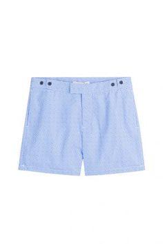 Frescobol Carioca Frescobol Carioca Bedruckte Bermuda-Shorts – Blau