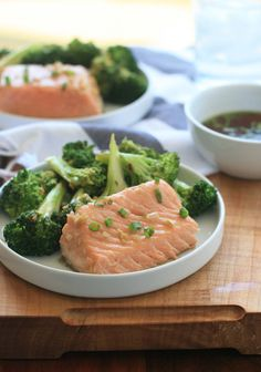 I love finding new ways to make salmon!  With a side of steamed broccoli, this is a fabulously healthy meal complete with Omega-3s, calcium and folic acid.