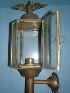 Edwardian Brass Coach Lamp Lantern with Candle by BiminiCricket, $85.00
