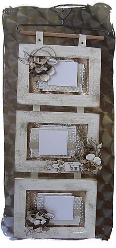 idea for one of my nests. cream frame, burlap, twigs......
