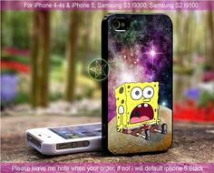 Spongebob Star In Galaxy Nebula iPhone 4/4S/5, Samsung S4/S3/S2 cover cases | sedoyoseneng - Accessories on ArtFire