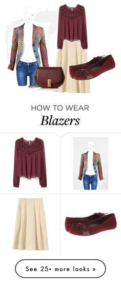 """""""Skirt with Blazer"""" by sillycatgrl on Polyvore featuring ESCADA, Marc Jacobs, Kenneth Cole Reaction and MANGO"""