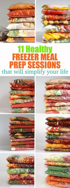 11 Healthy Freezer Meal Prep Sessions That Will Simplify Your Life (grocery Lists and printable recipes included). Simply combine the ingredients in a gallon-sized bag and freeze!