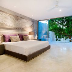 HPONCE ARQUITECTOS の モダンな 寝室 Recámara - B+H45