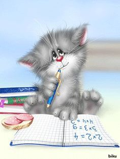 en mignonnes illustrations ( A.D) xenopus ♥ I Love Cats, Crazy Cats, Cute Cats, Funny Love Images, Cute Pictures, Kitten Cartoon, Image Chat, Cat Drawing, Illustrations