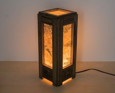 Wood lamp. Reclaimed wood. Lighting. Bedroom lamp. от ecokazen
