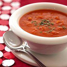 Tomatensuppe mit Linsen und Rosmarin
