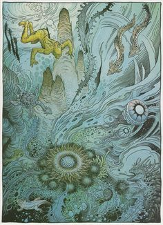 Page #5. Arzaq short story by Moebius and William Stout. 1996