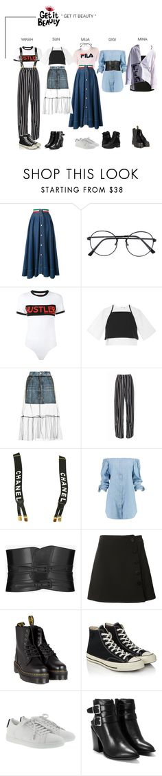 """ARIA (아리아) Get It Beauty"" by ariaofficial ❤ liked on Polyvore featuring Moschino, Hood by Air, Rosie Assoulin, Topshop, Chanel, Boohoo, Yves Saint Laurent, Misha Nonoo, Dr. Martens and Converse"