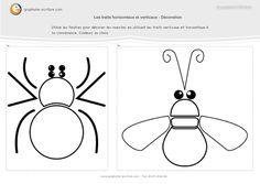 graphisme-maternelle-petite-section- les-traits-horizontaux-et-verticaux-décoration