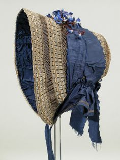 Bonnet (side view) | England, 1840-1850 | Material: textile | National Trust Collections