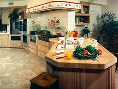Professional appliances, durable countertops and spacious islands are just a few of the features found in these kitchens fit for the gourmet chef.