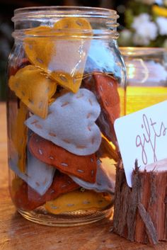 To help guests learn a little bit about one another, I created little felt heart pins and placed them in a jar. Once everyone arrived and to...