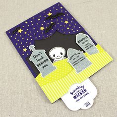 Something Wicked  Card by Lizzie Jones for Papertrey Ink (August 2015)