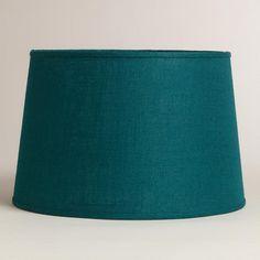 One of my favorite discoveries at WorldMarket.com: Teal Burlap Floor Lamp Shade