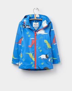 Joules Boys Skipper Rubber Coat, Blue Skateasarus, 8. 100% Polyurethane. Backing: 100% Polyester. Hand wash. Imported. Fleece-lined hood and body.