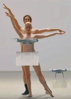 Japanese fashion brand Buyma just created a nude dance assisted by a fleet of drones