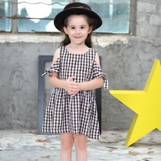 Baby Girl Dress 2017 Summer Princess Dresses Kids Clothing 100% Cotton Plaid Party Dress Casual Children Costume Girls Clothes #Affiliate