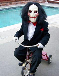 Jigsaw...kenzies Halloween costume for 2011. Love it!