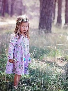Dresses - Winter - Paisley Lilac Painted Floral Dress