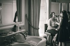 Bridal party in the expert hands of a make up artist at Luttrellstown Castle. Wedding Shoot, Wedding Venues, Irish Wedding, Photography Services, Clawfoot Bathtub, High Quality Images, Dublin, Castle, Wedding Photography