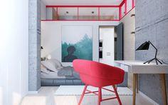 52 sq m bright appartment for an active young personMade for Zik-Zak studio:https://zikzak.com.ua/Designer/vizualizer: Olia Pietunova 2016