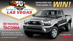 K&N Win An All New Toyota Tacoma Truck. Visit GiveawayHop.com for more #sweepstakes and #giveaways