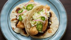 Cali-Baja Fish Tacos from James Beard-nominated PBS show Pati's Mexican Table Mexican Dishes, Mexican Food Recipes, New Recipes, Cooking Recipes, Favorite Recipes, Ethnic Recipes, Cooking Fish, Mexican Cooking, Fish Recipes