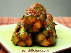 REBLOGGED - Korean Food: Cucumber Kimchi (OiSoBaGi =오이소박이) by aeriskitchen, via Flickr