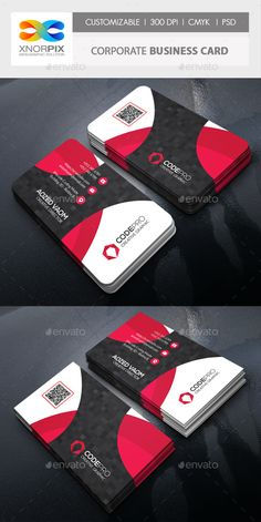 #Corporate #Business Card - Corporate Business #Cards Download here: https://graphicriver.net/item/corporate-business-card/19396765?ref=alena994