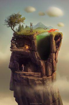 Beautiful Surreal World Illustrations by Gediminas Pranckevicius