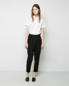 Samuji | Sismi+Cropped+Silk+Trousers | La Garçonne