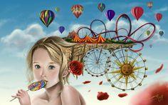 Art and Technology (ART Surrealism Female Pictures, Pictures Images, Imagination Art, Surreal Artwork, Surreal Portraits, Digital Art Gallery, Vladimir Kush, Surrealism Painting, Summer Pictures