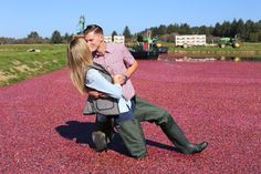 Marriage Proposal Ideas from HowHeAsked Katie and Luke's Proposal at a Cranberry Bog