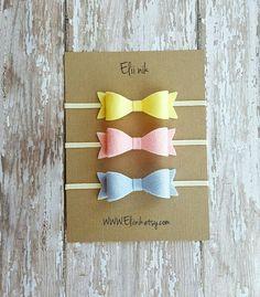 Baby headband Felt Bow headband bow headband set by eliinik