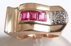 Feliz Joias - Anos 50/60 - Maravilhoso Anel Em Ouro Rosé - R$ 879,00 no MercadoLivre