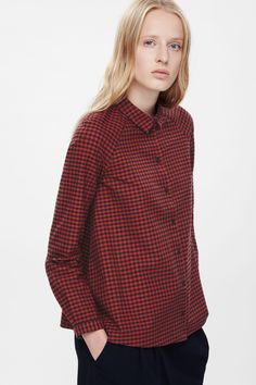 A-line checked shirt