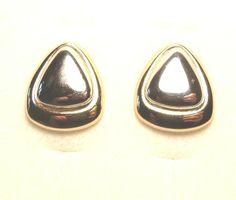 Vintage Napier Signed Gold & Silver tone Clip on earrings Hair Accent Shoes Deco